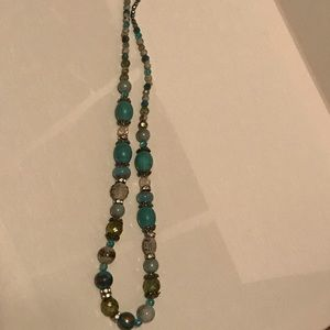 Necklace with various shades of blue